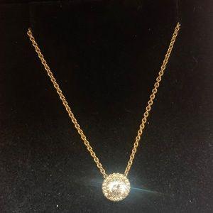 Pandora Sparkle Halo Necklace - Rose Gold